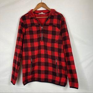 Buffalo Plaid Vintage Style Half Zip Pullover